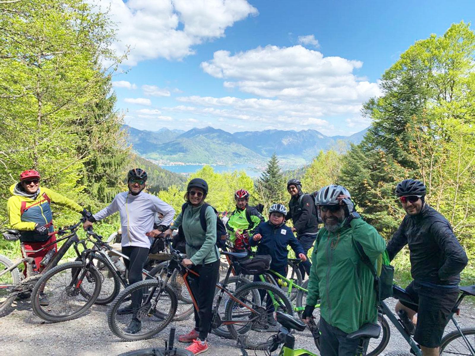 Unsere Mountainbike Tour ging dieses mal raus zum Tegernsee.