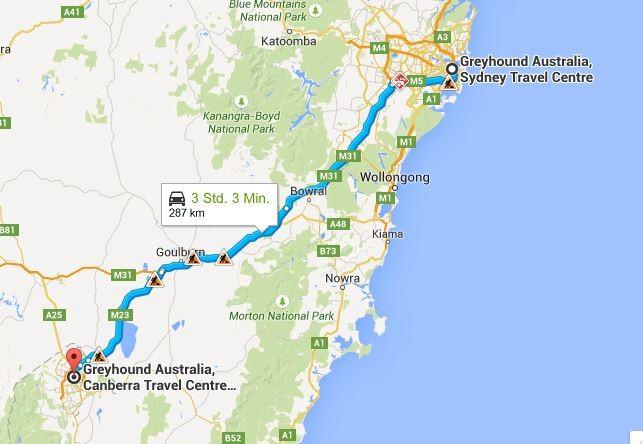 Einmal Hauptstadt, bitte... (Quelle: Google Maps)