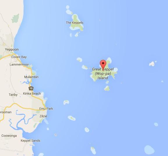 Unser erster Schnorchelspot... (Quelle: Google Maps)