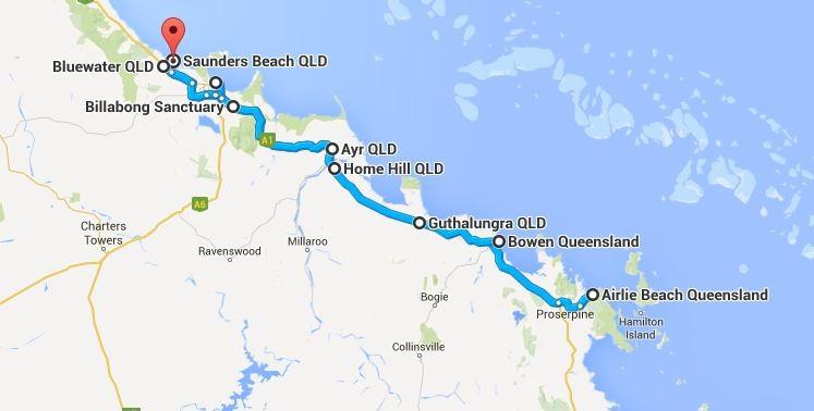 Weiter in Richtung Norden... (Quelle: Google Maps)
