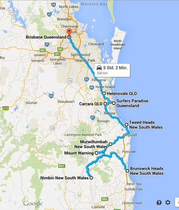 Wir überschreiten die Grenzen: Route 4 - 17.04.2015 bis 20.04.2015
