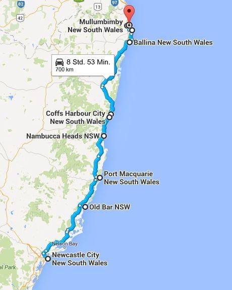 Strecke 1 der heutigen Woche... (Quelle: Googel Maps)
