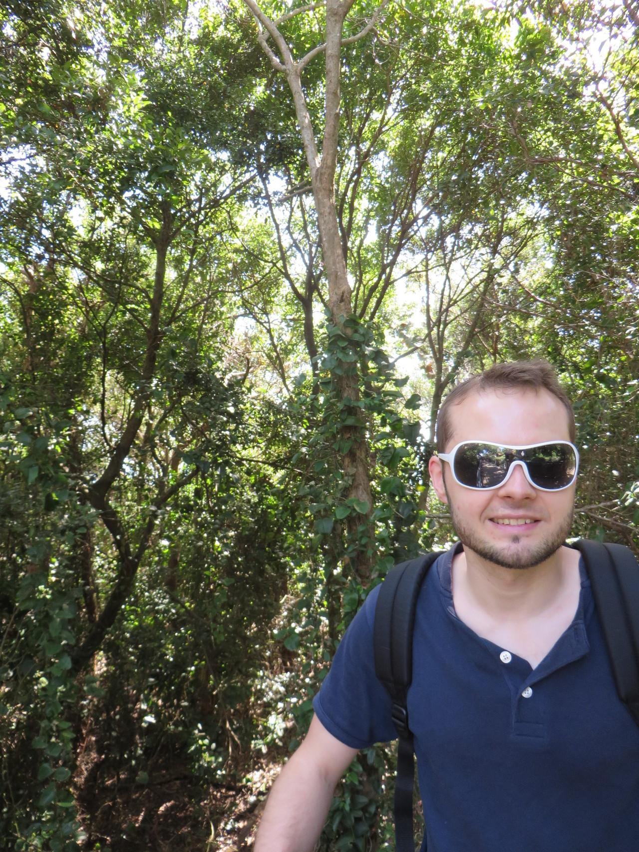 Markus im Dschungel.