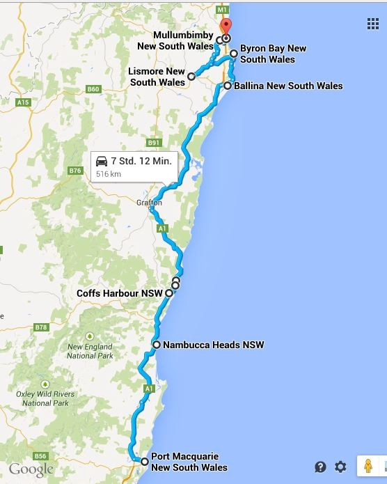 Die Küste entlang: Route 3 - 12.04.2015 bis 16.04.2015