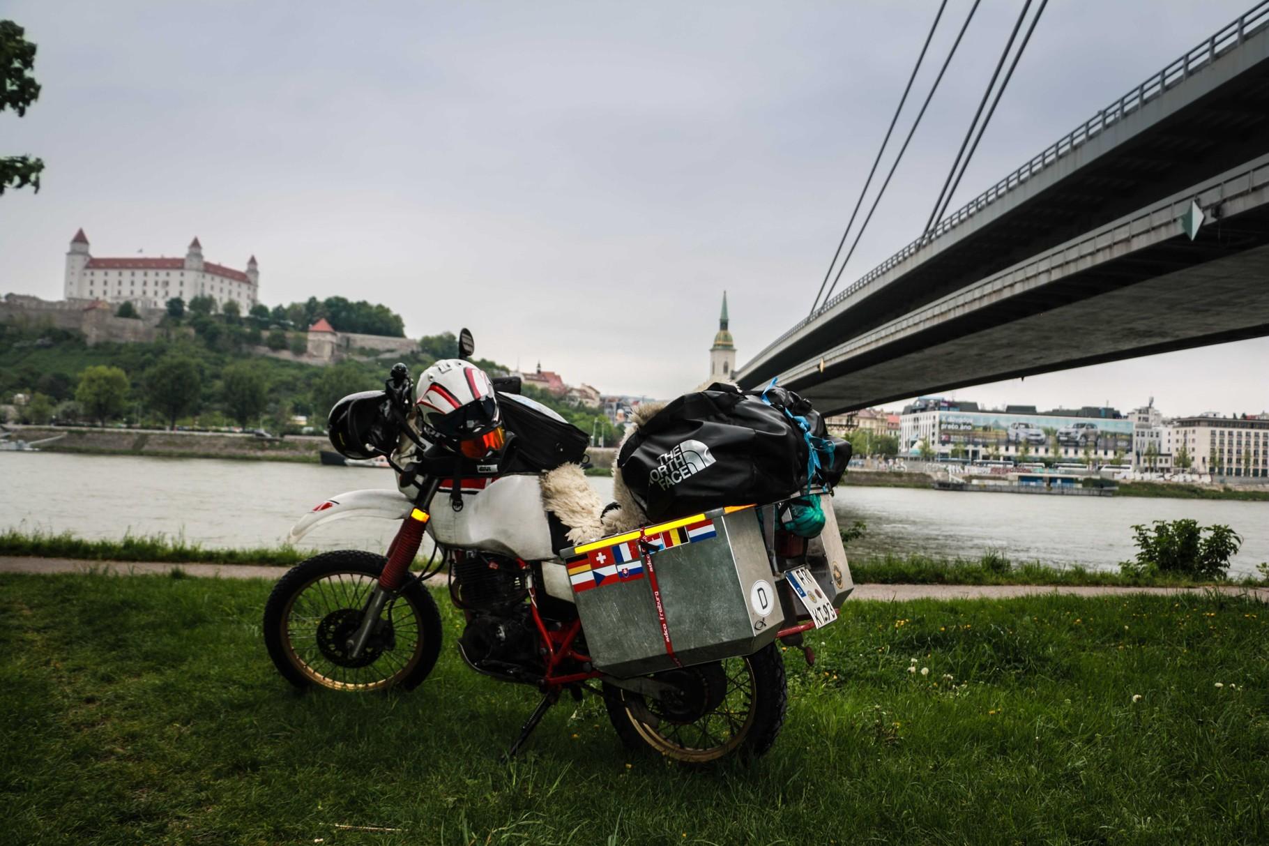 Die Sicht auf Bratislava
