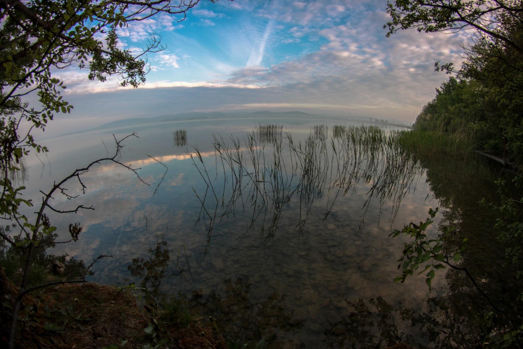 Der Balaton-See in Ungarn