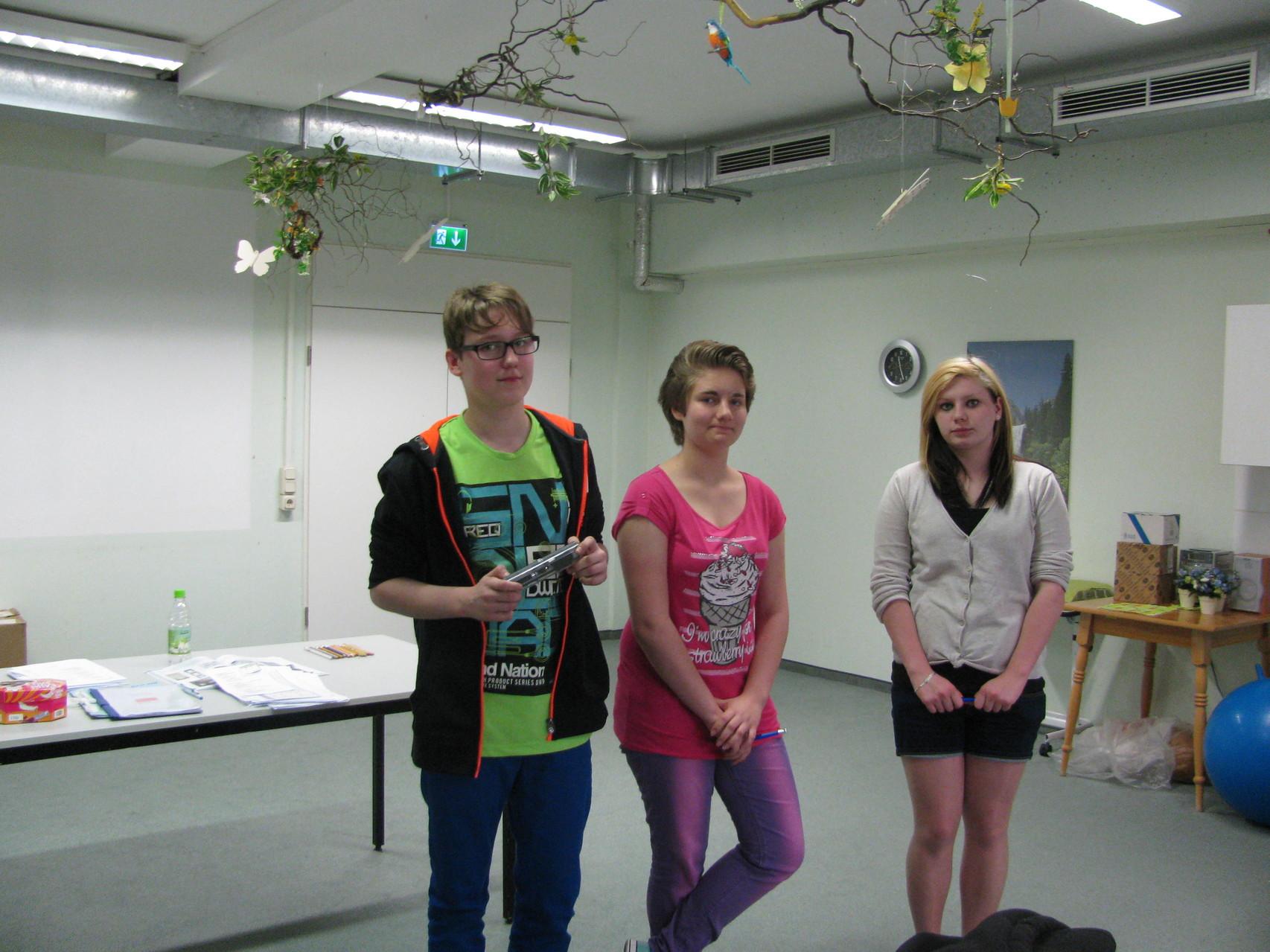 Tobias, Celina & Melissa brachten ihre Präsentationen aus der 8a am besten an den Mann