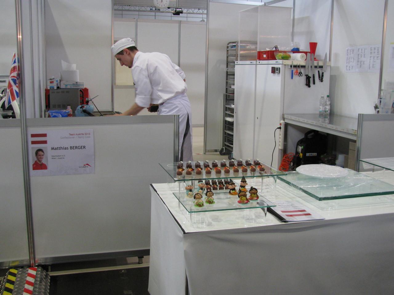 Mathias Berger aus Wien in Österreich konzentrierte sich als Confectioner voll auf das Lösen seiner WM- Aufgaben