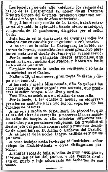 La Época 18 de julio de 1891 (Biblioteca Nacional)
