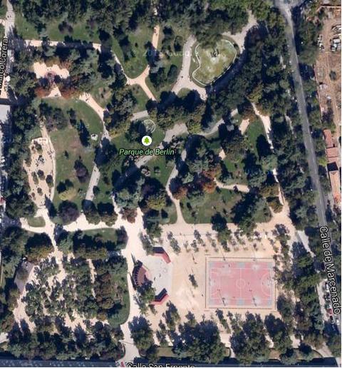 google satelite, parque de Berlín de Madrid