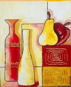 Vasen mit Obst - 30 x 20 cm - Nicht mehr verfügbar!