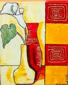 Vasen mit Calla - 30 x 20 cm - Nicht mehr verfügbar!