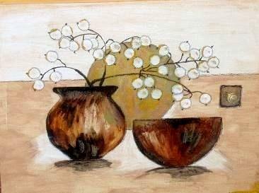 Vase mit Schnecke - 70 x 50 cm - Nicht mehr verfügbar!