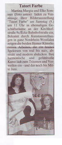 Vernissage: Tatort Farbe, Herne