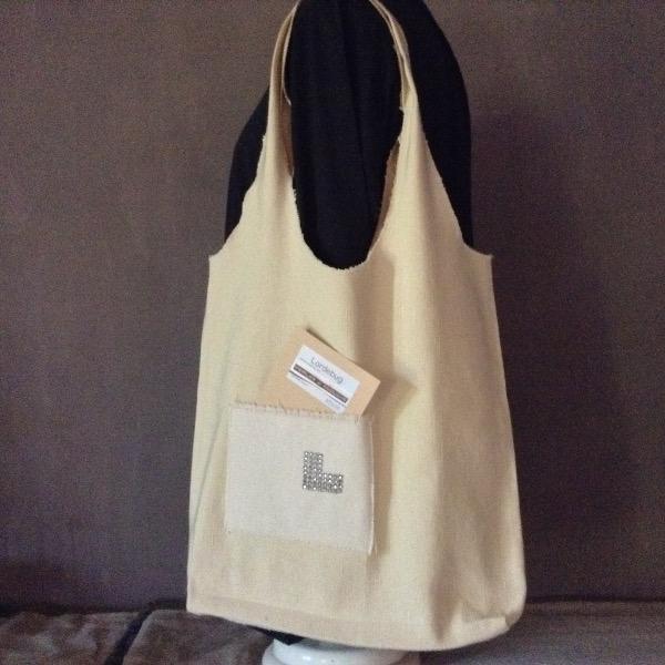 Shopping Bag blanc cassé Siglé L