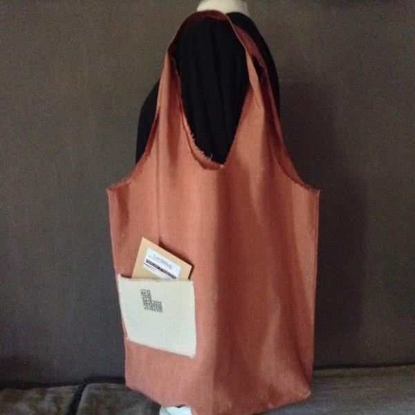 Shopping Bag rose Corail Siglé L