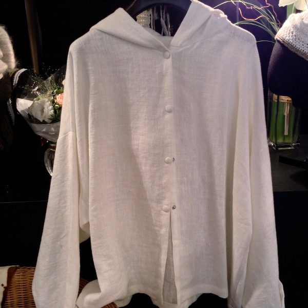 Chemise à Capuche Lin Blanc