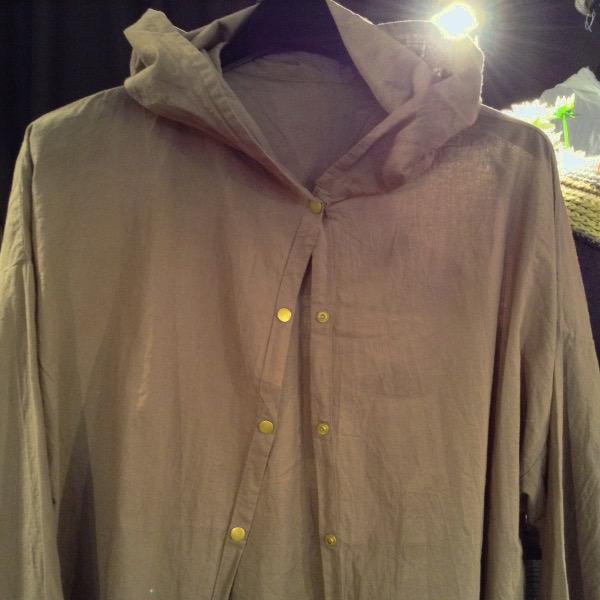 Chemise à Capuche Voile de Coton Kaki