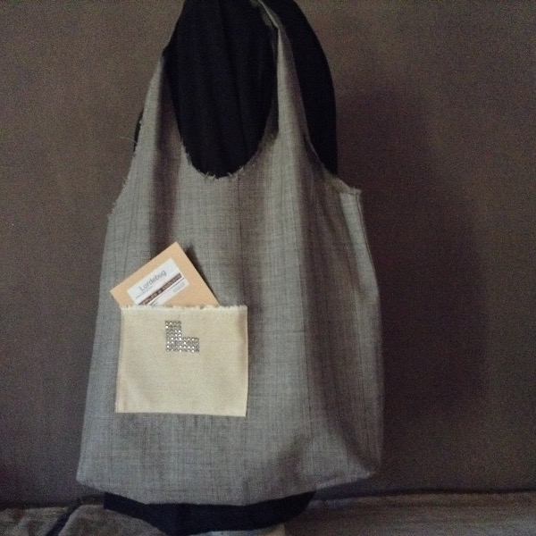 Shopping Bag gris clair Siglé L