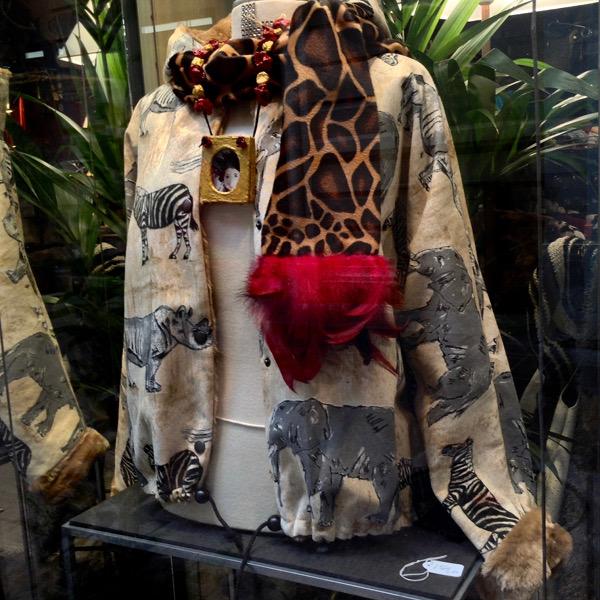 Blouson Reversible Savane & FFur Camel à Capuche
