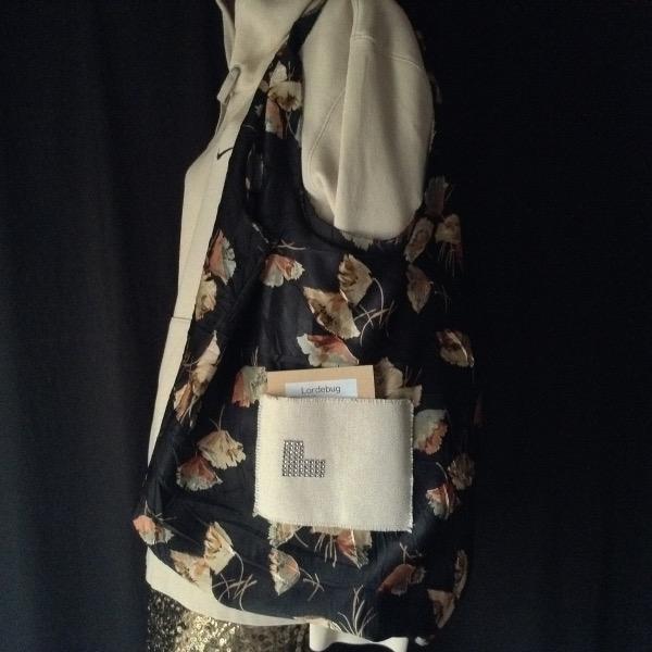 Shopping Bag Noir Fleurs
