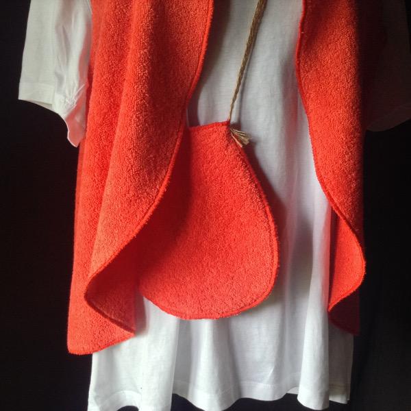 Gilet éponge Orange avec Poche