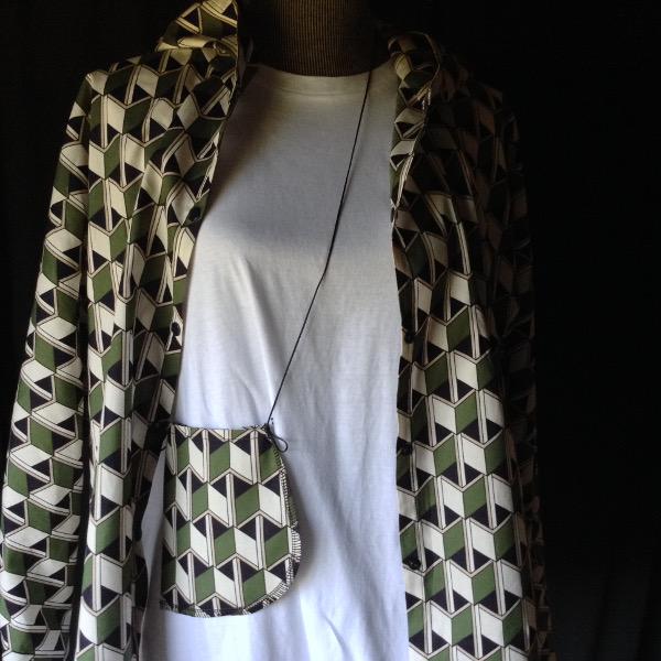 Chemise à Capuche Coton imprimé Vert & Noir