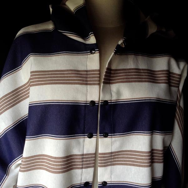 Chemise à Capuche Toile rayée
