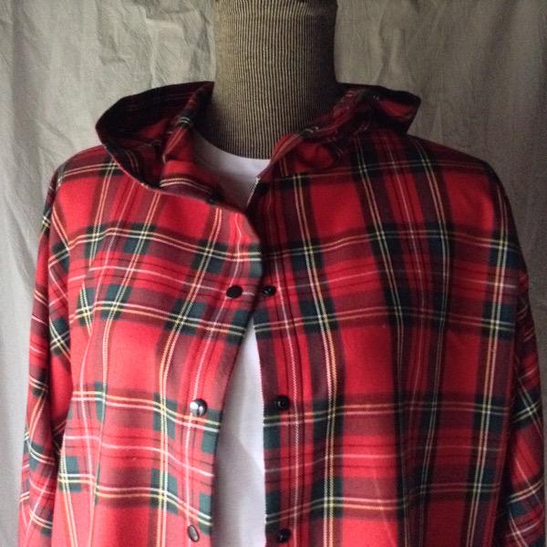 Chemise à Capuche Ecossais Rouge