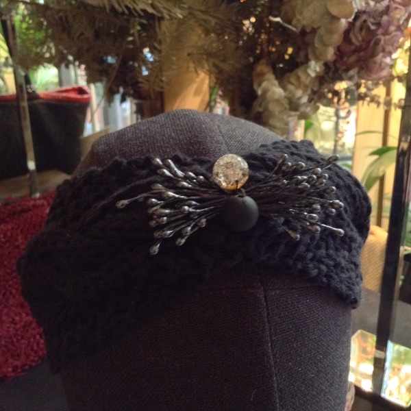 Turban Noir Brodé Perles
