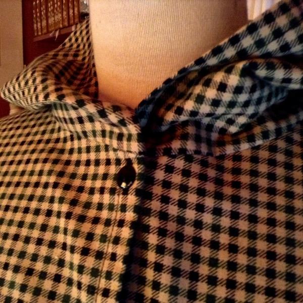 Chemise à Capuche Carreaux Noirs & Verts