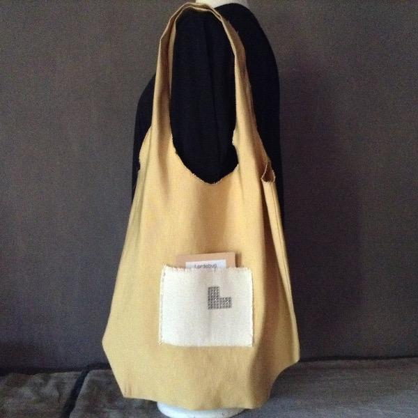 Shopping Bag jaune Safran Siglé L