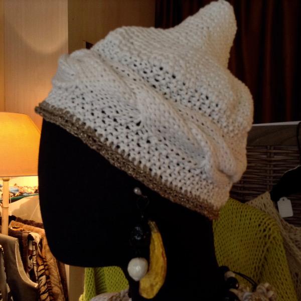 Le Turban Coton blanc Pointu