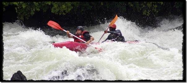 Kayaking the River Nile at Jinja