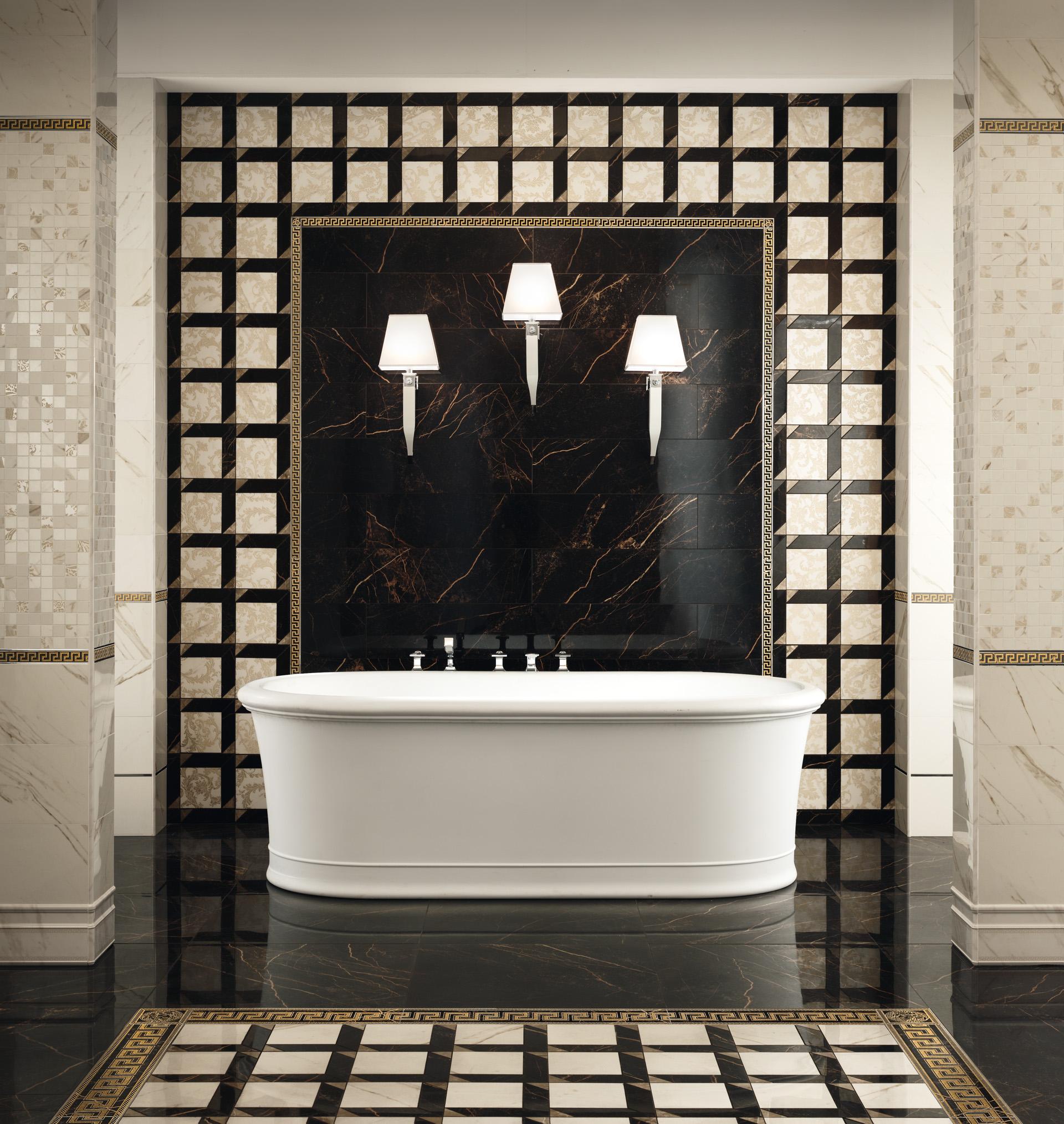Versace serie marble casaeco pavimenti e rivestimenti in - Piastrelle bagno versace ...