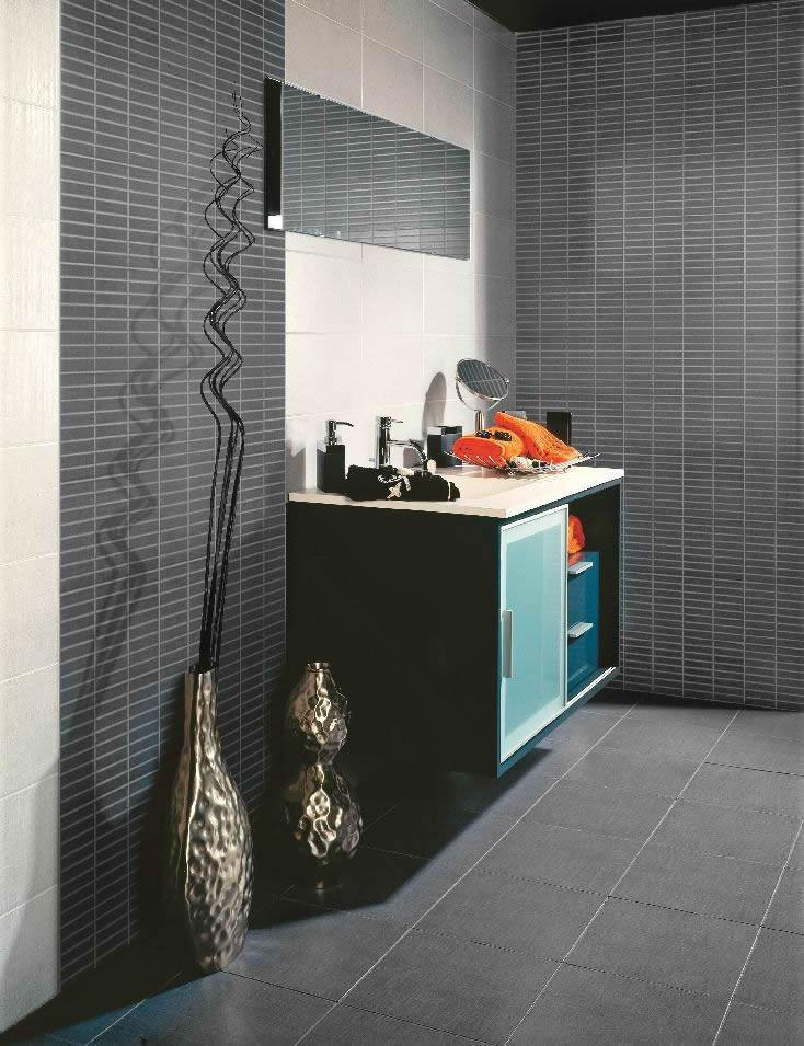 Rivestimento casaeco pavimenti e rivestimenti in - Piastrelle grigie bagno ...