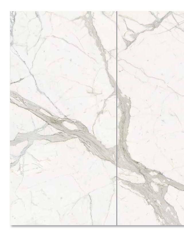 Gres porcellanato Calacatta 300x150 cm. spessore 6 mm.  levigato lucido scelta commerciale