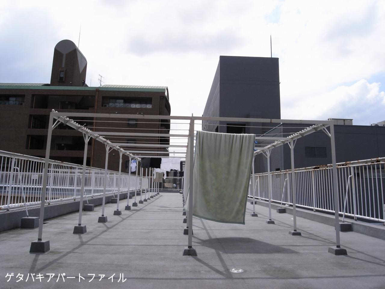 洗濯物を屋上に干せます。