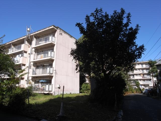 団地裏手には都営青山北町アパートが広がってます。  超都心部とは思えないほどの緑です。