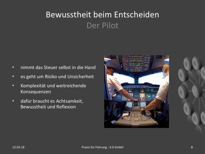 Entscheiden im Pilotenmodus
