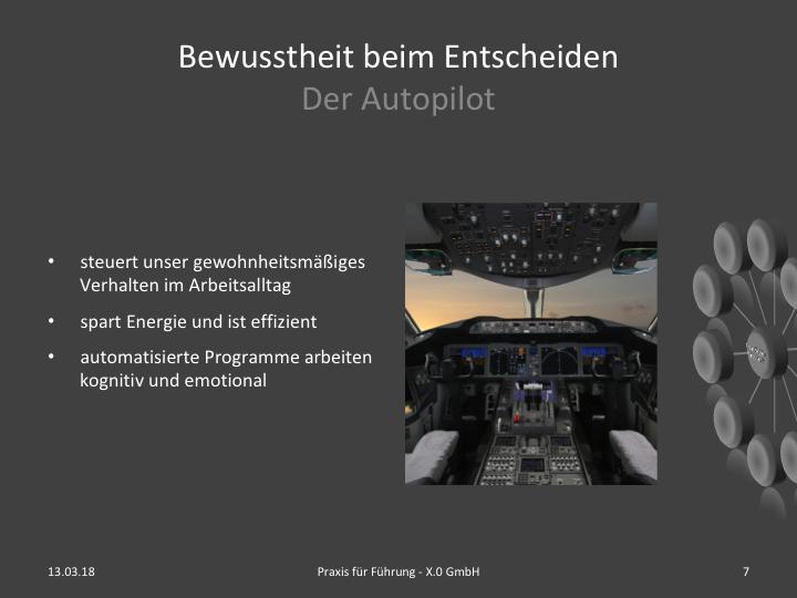 Entscheiden mit Autopilot