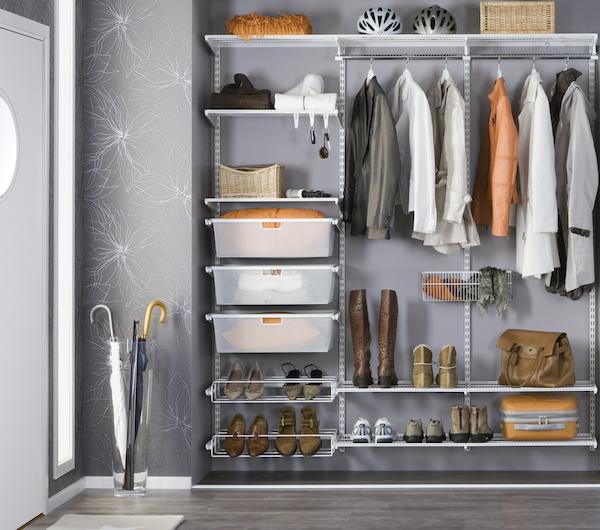 Regalsystem Garderobe, Begehbarer Kleiderschrank, Elfa Regalsystem, Regalsystem Metall