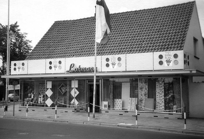 Geschäftsgebäude Lohmann um 1948
