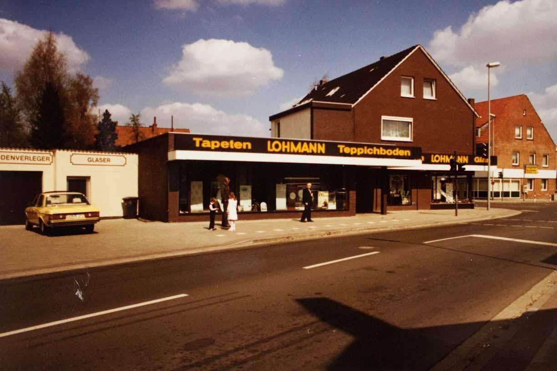 Geschäftsgebäude Lohmann um 1989