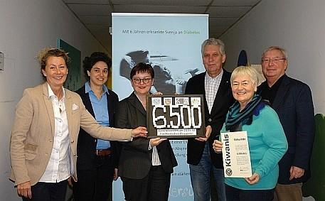 Von links: Inka Ort (Bunter Kreis Rheinland), Dr. Anke Rebstein-Geidel und Renate Held (Bach-Chor Bonn) sowie Dr. Michael Büssemaker, Barbara Hopf und Wolfgang Käppler (alle KC Bonn)