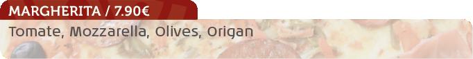 Pizza Margherita / 7.90€