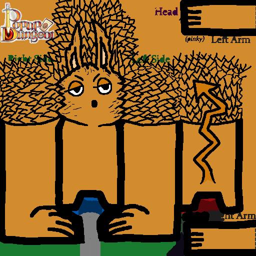 Ted, der Feuerteufel (selfmade Popup Dungeon character)