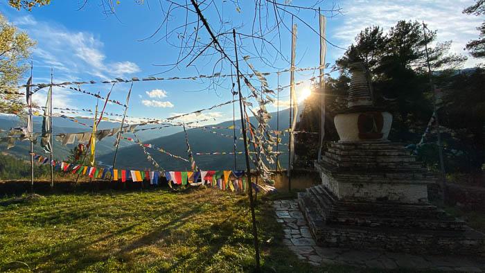 Das Tal von Tang in Bumthang in Zentral-Bhutan