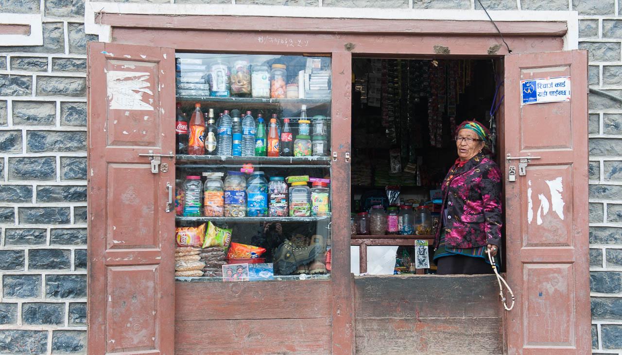 Kleiner Laden in Kagbeni hinter der Annapurna