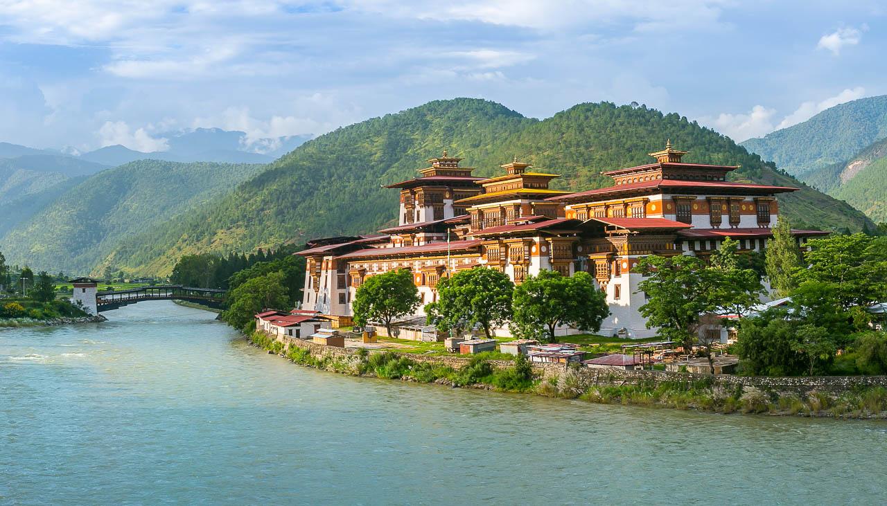 Das Dzong von Punakha gilt als schönstes Dzong in Bhutan